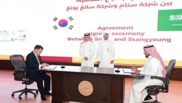 쌍용자동차, 사우디아라비아 SNAM와 제품 라이선스 계약 체결